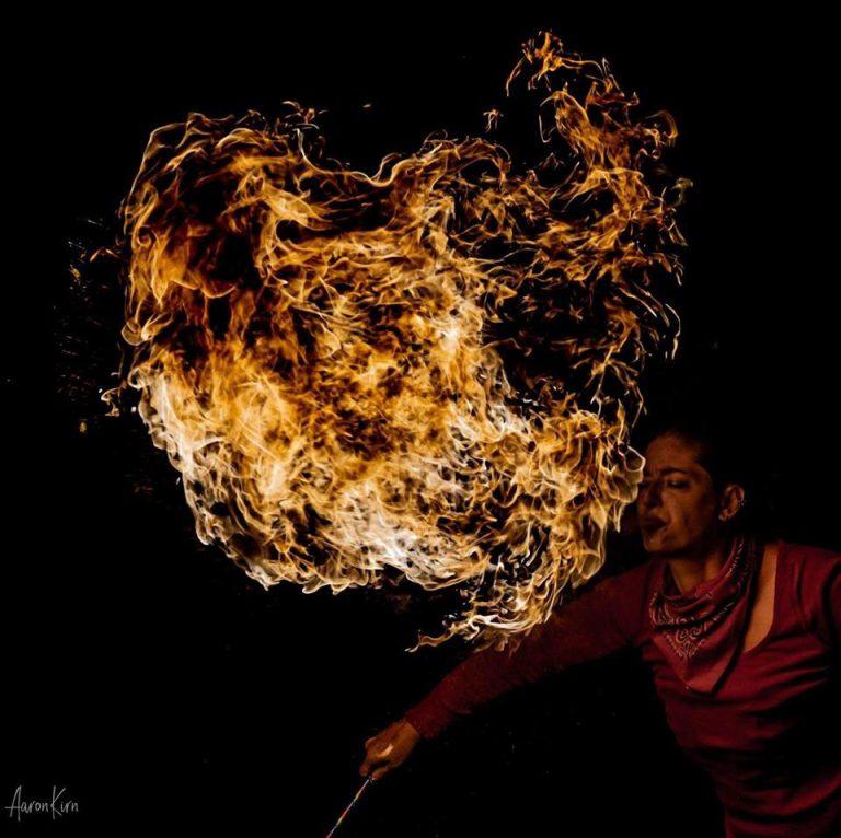 Alicia Westbroo Fire Hoop
