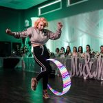 Olivia Campbell Wedding Hula Hoop Performance