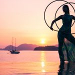 Sun Set Hoop Dance in Bermuda