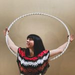 Shell Bell Hoops with a hula hoop