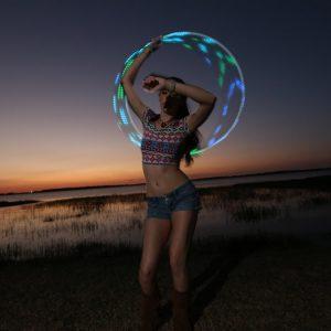 floridaflowfairy LED Hula Hoop Sunset
