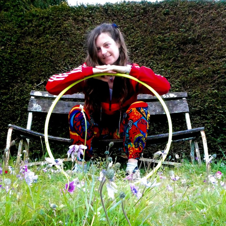 Wonder Hoops hooping in the park