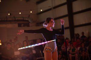 Christine-Strickland LED hula Hoop Show