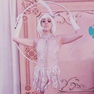 Mona Rios Pink Costume HUla Hoop